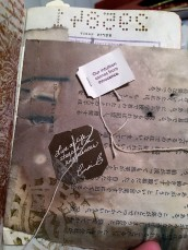 Tags from tea bags added to this layout.